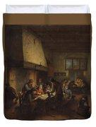 Tavern Scene Duvet Cover