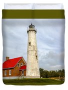 Tawas Point Lighthouse - Lower Peninsula, Mi Duvet Cover