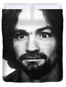 Charles Manson Mug Shot 1969 Vertical  Duvet Cover