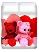 Teddy Bearz Valentine Duvet Cover