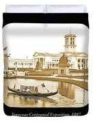 Tennessee Centennial Exposition, Auditorium Building, Lake And G Duvet Cover