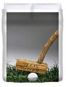 Texas Golf Putter. Duvet Cover