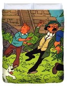 The Adventures Of Tintin Duvet Cover