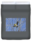 The American Goldfinch In-flight, Duvet Cover