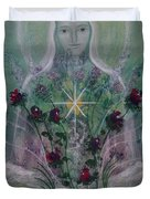 The Angel Of Roses Duvet Cover