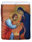 The Arrival Of The Apostles To The Virgin Fragment 1311  Duvet Cover