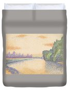 The Banks Of The Marne At Dawn Duvet Cover