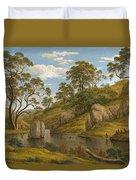 The Bath Of Diana. Van Diemen's Land Duvet Cover