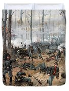 The Battle Of Shiloh Duvet Cover