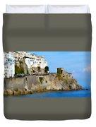 The Beach At Amalfi Duvet Cover