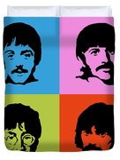 The Beatles Colors Duvet Cover