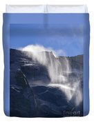 The Beautiful Bridalveil Falls Of Yosemite Duvet Cover