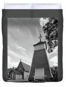 The Bellfry And The Church Of Kustavi Duvet Cover