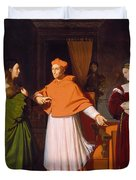 The Betrothal Of Raphael And The Niece Of Cardinal Bibbiena Duvet Cover