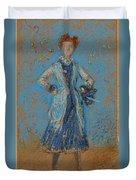 The Blue Girl Duvet Cover