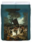 The Burial Of The Sardine Duvet Cover