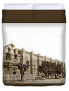 The Campanario, Or Bell Tower Of San Gabriel Mission Circa 1890 Duvet Cover