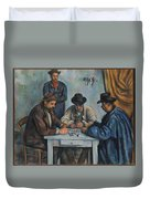 The Card Players Duvet Cover