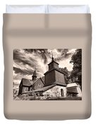 The Church Of Fagervik Duvet Cover