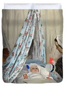 The Cradle - Camille With The Artist's Son Jean Duvet Cover