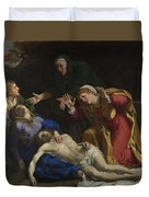 The Dead Christ Mourned The Three Maries Duvet Cover