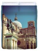 The Equestrian Statue Of Bartolomeo Colleoni In Venice Duvet Cover