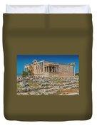 The Erechtheum On The Acropolis, Athens, Greece Duvet Cover