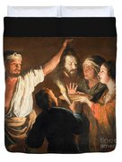 The Executioner With The Head Of John The Baptist Duvet Cover