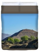 The Famous Pyramid Of The Sun Duvet Cover