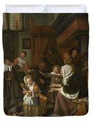 The Feast Of St. Nicholas Duvet Cover