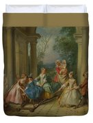 The Four Ages Of Man   Childhood Duvet Cover