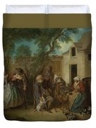 The Four Ages Of Man   Old Age Duvet Cover