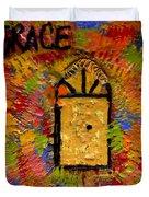 The Golden Door Of Grace Duvet Cover