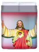 The Hands Of Christ Duvet Cover