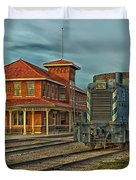 The Historic Santa Fe Railroad Station Duvet Cover