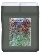 The House Among The Roses Duvet Cover