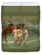 The Knights Dream Duvet Cover by Richard Mauch