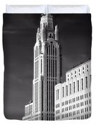 The Leveque Tower Of Columbus Ohio Duvet Cover