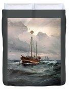 The Lightship At Skagen Reef Duvet Cover