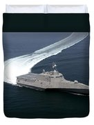 The Littoral Combat Ship Independence Duvet Cover