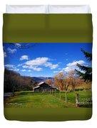 The Log Barn Duvet Cover