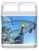 The London Eye And Street Lamp Duvet Cover