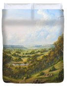 The Lost Sheep In The Scrub Duvet Cover