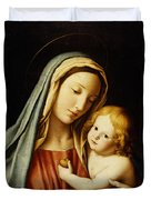 The Madonna And Child Duvet Cover