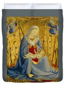 The Madonna Of Humility Duvet Cover