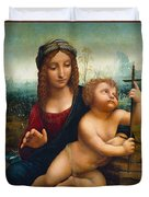 The Madonna Of The Yarnwinder Duvet Cover