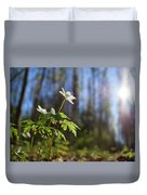 The Morning. Wood Anemone Duvet Cover