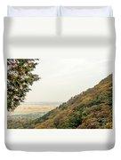 The Mountain View At The Yoro Waterfall In Gifu, Japan, November Duvet Cover