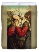 The Mourning Mary Magdalene Duvet Cover