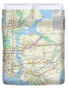 The New York City Pubway Map Duvet Cover